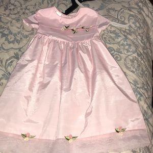 Girls pink dress -like new